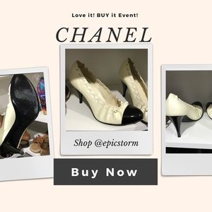 Chanel Stretch Cap-toe Ballet Style Pumps
